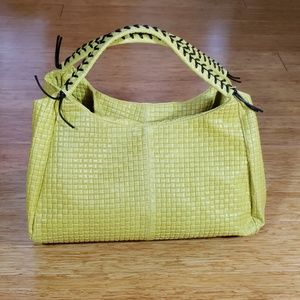 New Italian woven look leather handbag